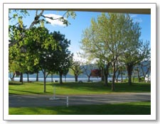 RV Rentals Kelowna waterfront campground